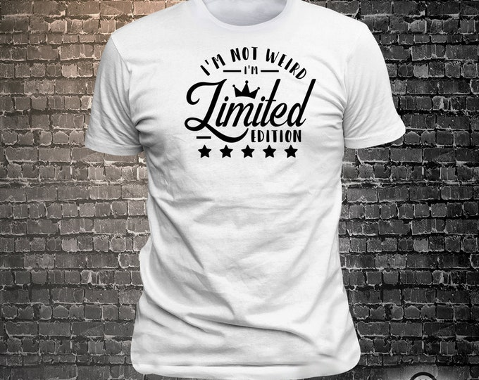 I'm not wierd im limited edition Sassy print t-shirt