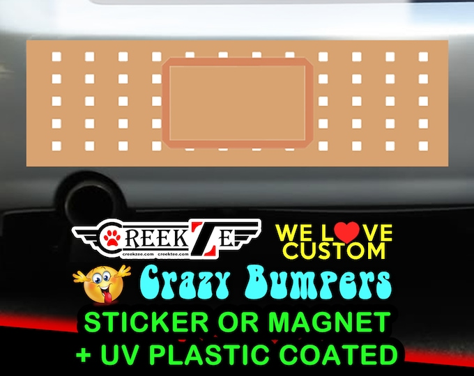 Bandage Funny Bumper Sticker or Magnet, various sizes available! Customizable