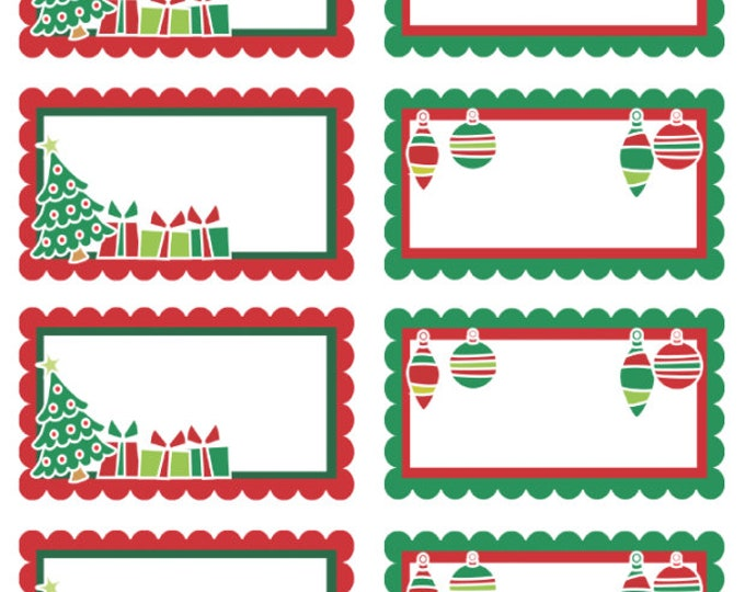 150 Premium Holiday Stickers - be different - 56 Sticker Gift Tags + 84 Holiday Stickers + 10  North Pole Mail Stamp - glossy or matte