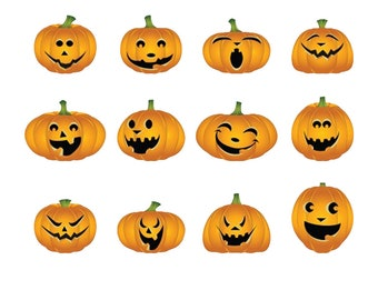 100+ Fun Halloween  Stickers - 1 inch wide by up to 1.5  inch high - great for lunch boxes or anything!