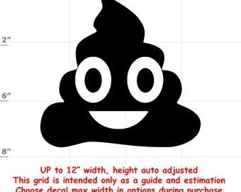Poo Emoji Vinyl Decal (1906-K) - various sizes and colors - colours