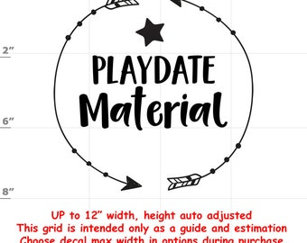 Playdate Material - Fun Decals various sizes and colors - colours