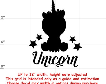 Unicorn - Fun Decals various sizes and colors - colours
