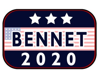 Bennet 2020 Sticker or Magnet Option - 6 x 4 inches - Custom changes and orders welcomed!