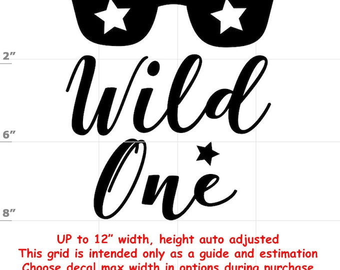 Wild One - Fun Decals various sizes and colors - colours