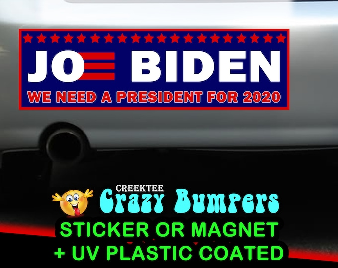 "10X 9"" x 2.7"" Joe Biden 2020 bumper sticker or magnet, Biden Election Sticker 9 x 2.7 Sticker Magnet or bumper sticker or bumper magnet"