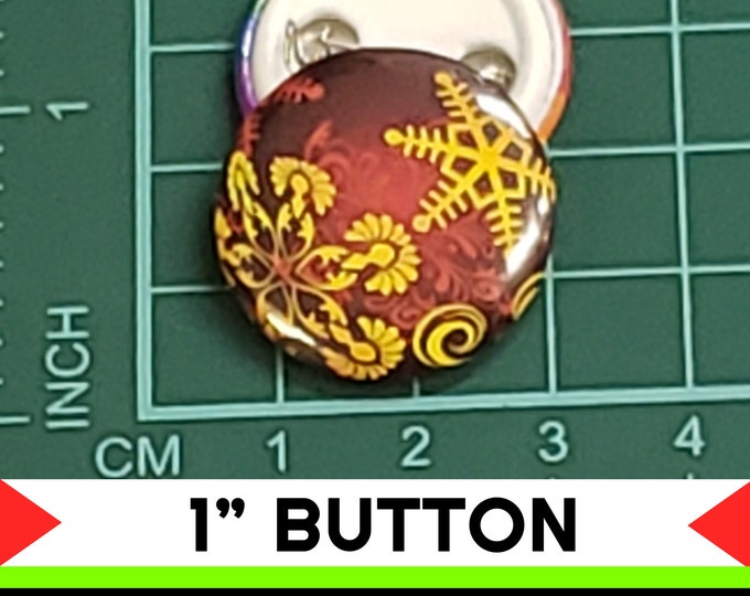 Christmas Ball 1 inch buttons. Pin back button