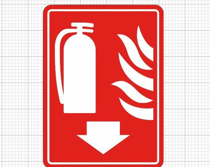 Fire Extinguisher Vinyl Sticker or Magnet, Vinyl Sticker, Laminate, UV Laminate and Magnet options