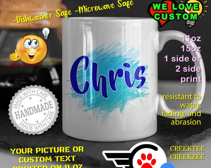 Personalized Name Mug, Custom Funny Mug Custom Name 11oz Coffee Mug, choose your color or font