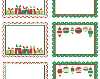 Premium Holiday Gift Tags, 2.5 inch x 3 inch
