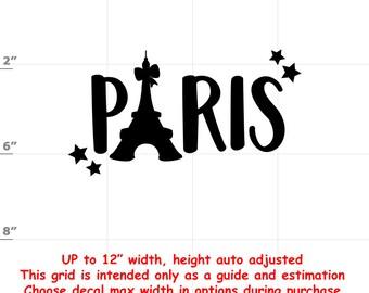 Paris - Fun Decals various sizes and colors - colours