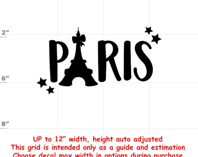 Paris - Fun Decals various sizes and colors - colours