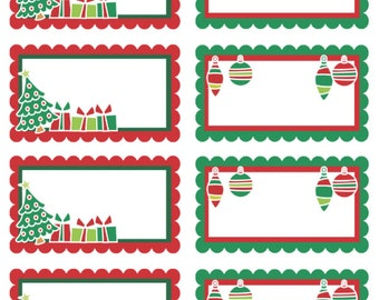 Premium Holiday Gift Tags, 1.5 inch x 3 inch