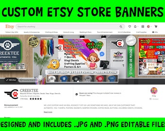CUSTOM ETSY SHOP Design - Made to Order Shop Banners Showcase Your Brand