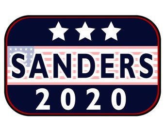 Sanders 2020 Sticker or Magnet Option - 6 x 4 inches - Custom changes and orders welcomed!