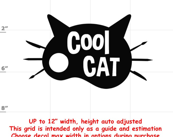 cool cat Vinyl  Funny Cat Decal