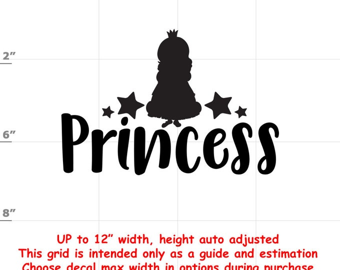 Princess - Fun Decals various sizes and colors - colours
