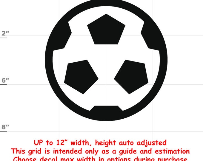 Soccer Ball Vinyl Decal (1906-R) - various sizes and colors - colours