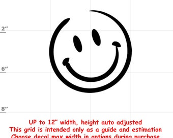 Happy Face Emoji Vinyl Decal (1906-I) - various sizes and colors - colours