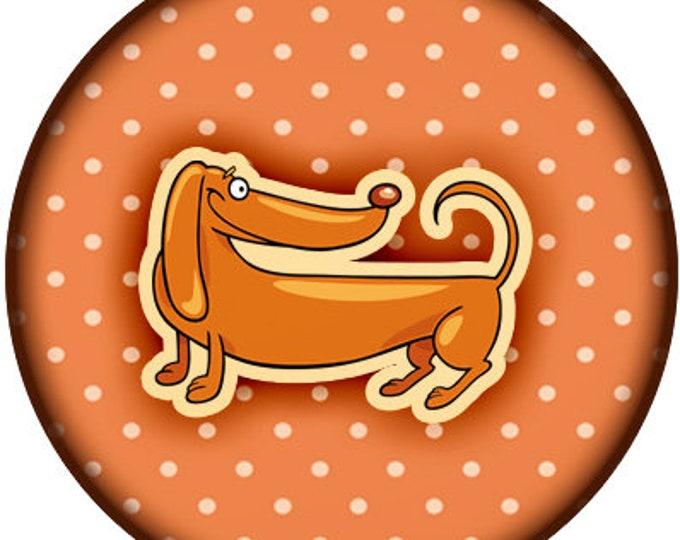 Dog Oragami Print Fun 1 inch buttons. Pin back button