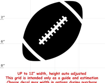 Football Vinyl Decal (1906-S) - various sizes and colors - colours