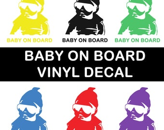 Baby on board window decal - Baby Decal - Gansta Baby Decal