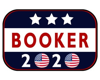 Booker 2020 Sticker or Magnet Option - 6 x 4 inches - Custom changes and orders welcomed!