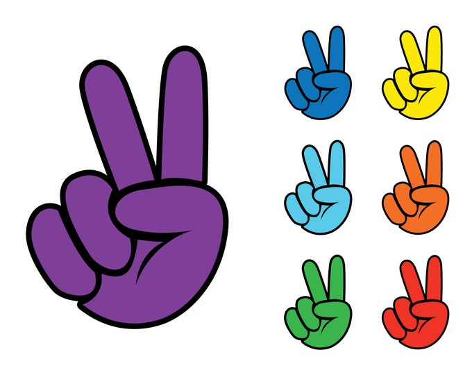 """Peace Vinyl Sticker or Magnet sizes from 2"""" to 6"""" in a variety of colors"""