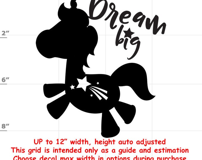 Dream Big - Fun Decals various sizes and colors - colours