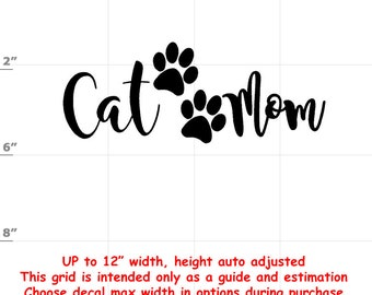 cat mom Vinyl  Funny Cat Decal