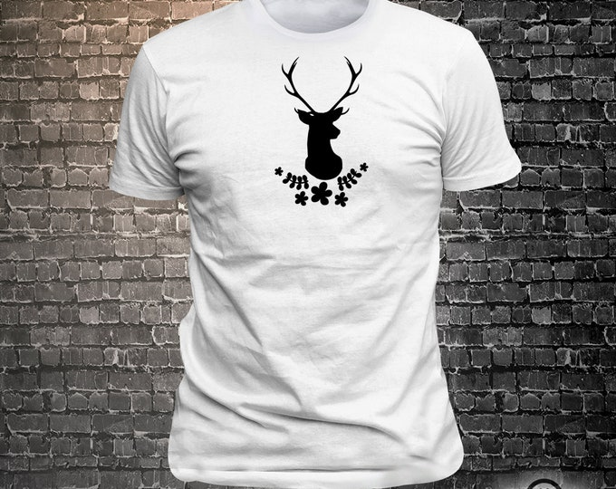 Vinyl Print Antlers - Fun Wear T-Shirt  - Unisex Funny Sayings and T-Shirts Cool Funny T-Shirts Fun Wear