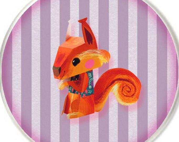 Animal Oragami Print Fun 1 inch buttons. Pin back button