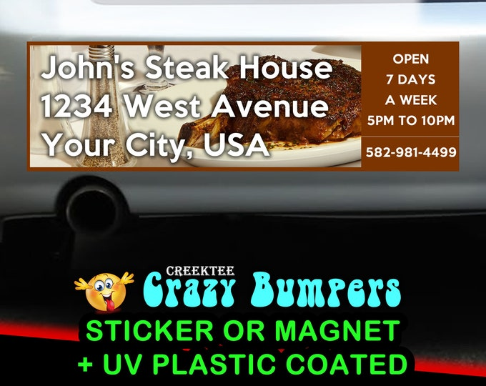 Custom Bumpers Photo and Text Personalized 10 x 3 Bumper Sticker - Custom changes and orders welcomed!