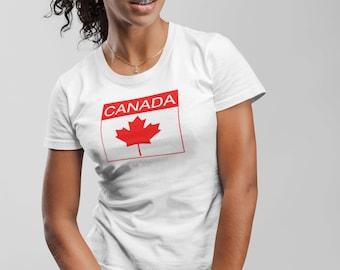 Canada long lasting vinyl print t-shirt