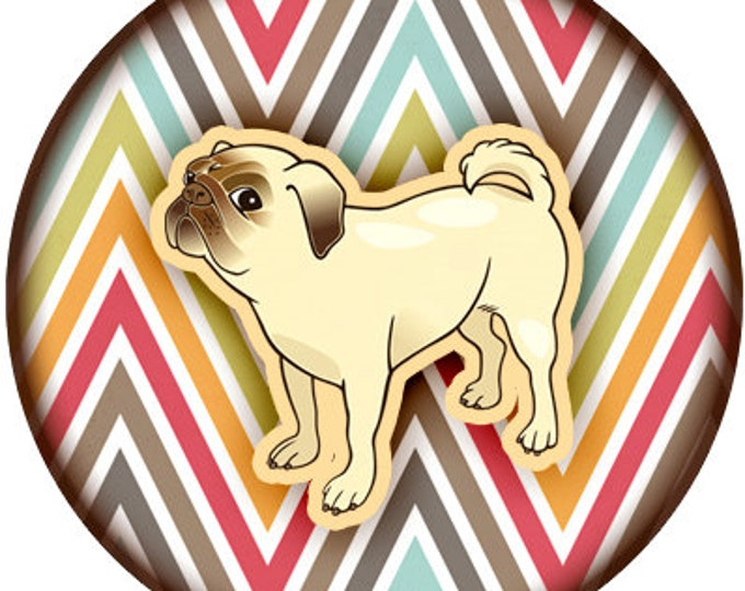 Dog Oragami Print Fun 1 inch buttons. Pin back button