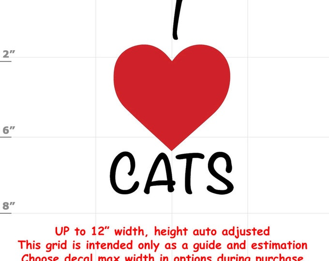 i love cats Vinyl  Funny Cat Decal