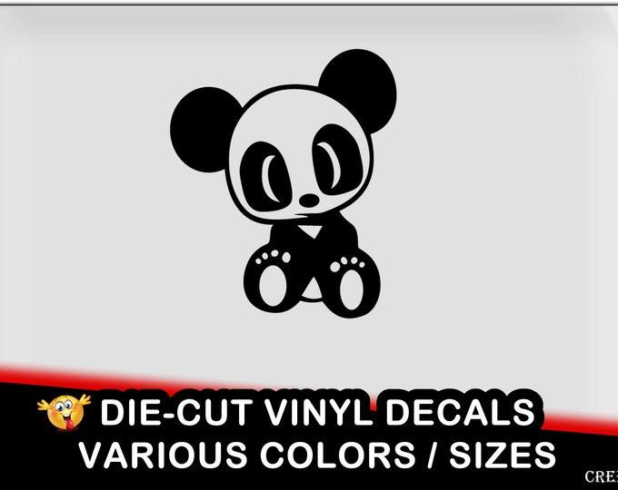 Cute baby panda jdm Vinyl Decal - fun vinyl decal in various colors