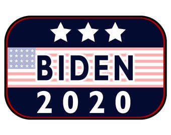 Biden 2020 Sticker or Magnet Option - 6 x 4 inches - Custom changes and orders welcomed!