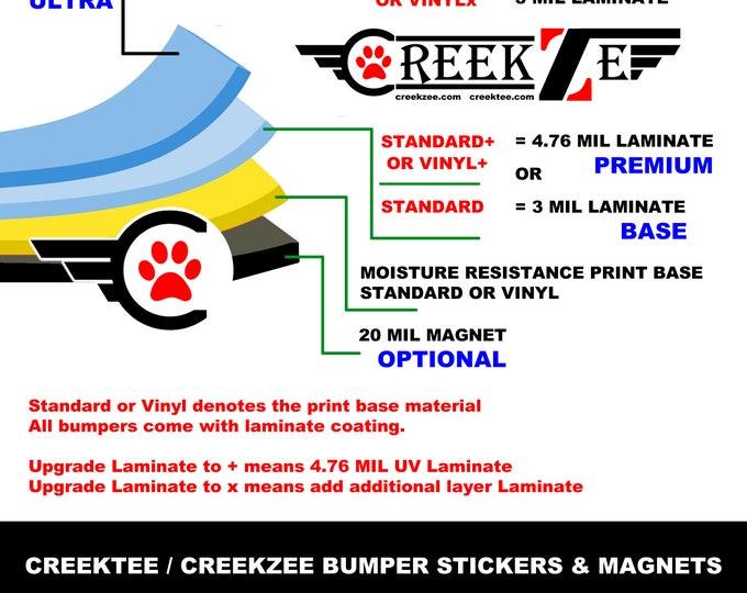 "Custom 12"" bumper magnet"