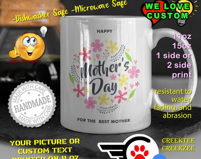 Mothers Day Personalized Name Mug, Custom Funny Mug Custom Name 11oz Coffee Mug, choose your color or font