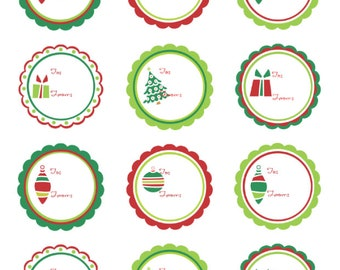 Premium Holiday Gift Tags, 2 inch x 2 inch