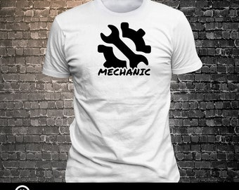 Mechanic Wrench icon T-shirt  T-shirt funny tees Unisex Cool Funny T-Shirts Fun Wear Various colors/colours available - 1906-D