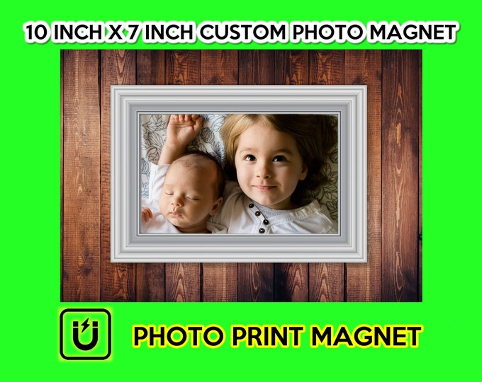 Photo Magnet, large 10 inch wide by 7 inch high photo print on magnet great for fridges and your special photos or everyday fun photos