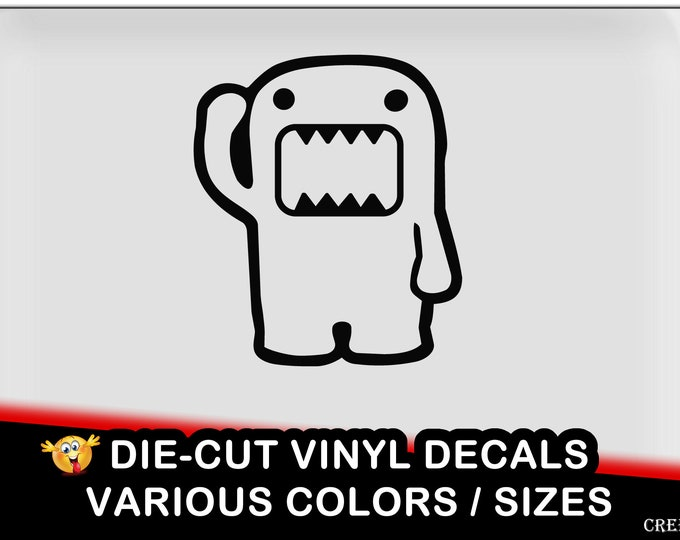 Domo Vinyl Decal - fun vinyl decal in various colors