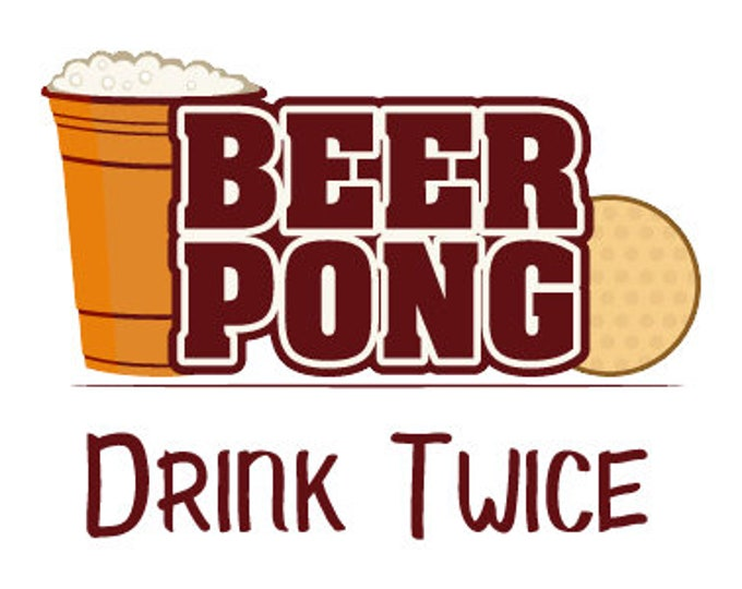 Set of 24 beer pong stickers to put on cups for the most popular beer drinking game