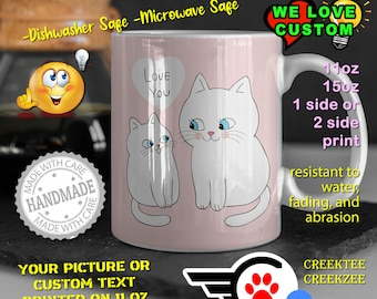 Mothers Day Personalized Name Mug, Custom Funny Mug Custom Name 11oz Coffee Mug, choose your color or font