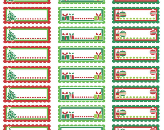 Premium Holiday Gift Tags, 1 1/2 inch x 1/2 inch