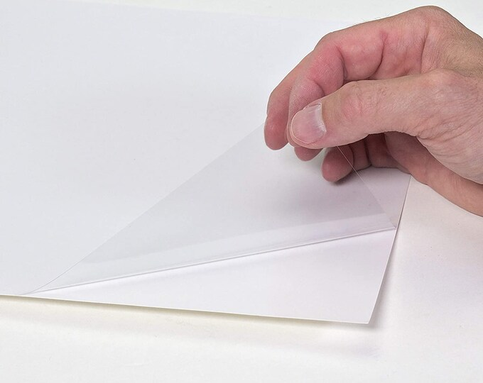 5 Pack - Cling Film uses static to cling onto smooth, glossy surfaces without the use of any sticky adhesives.