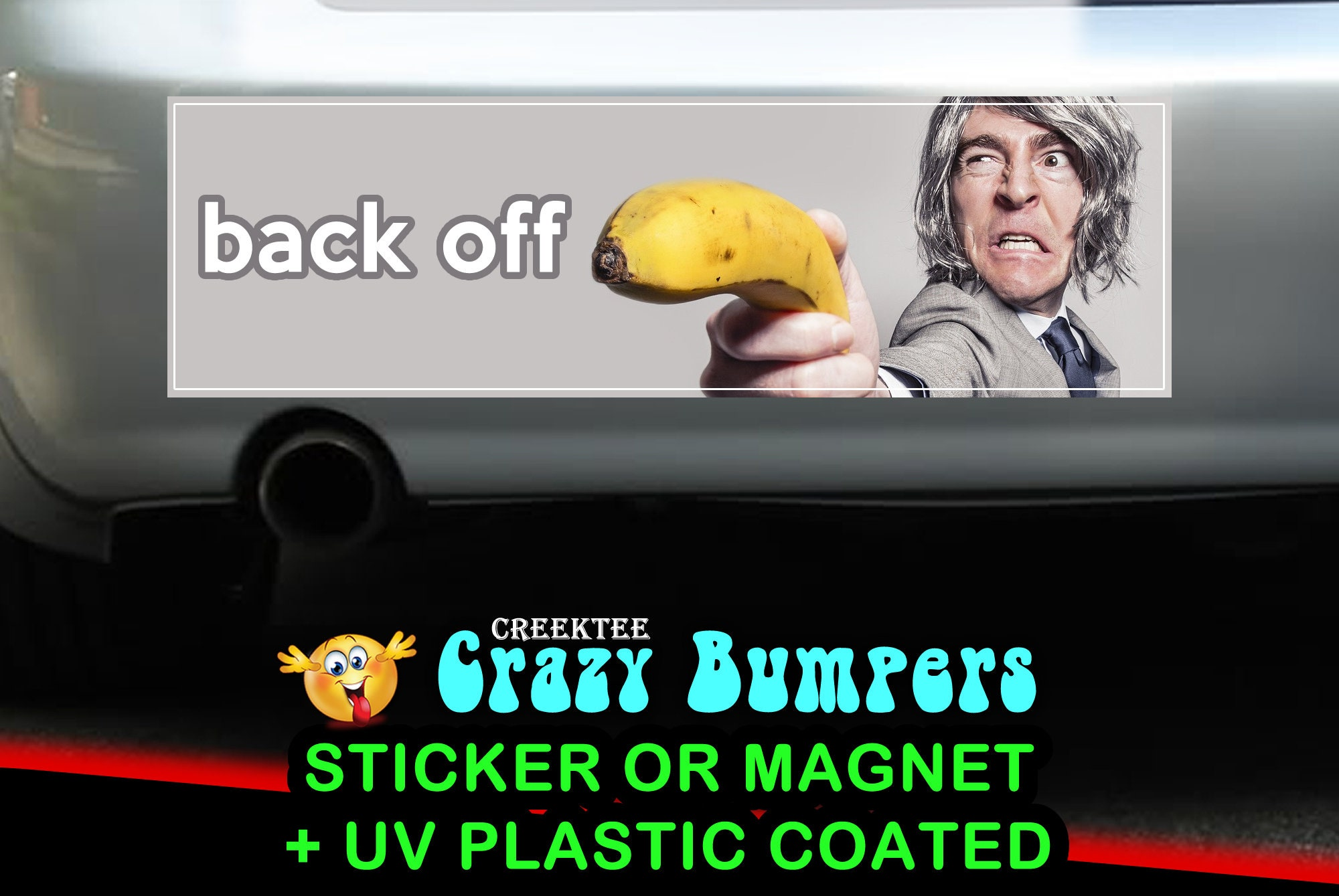 CAD$9.74 - Back Off 10 x 3 Bumper Sticker or Magnetic Bumper Sticker Available