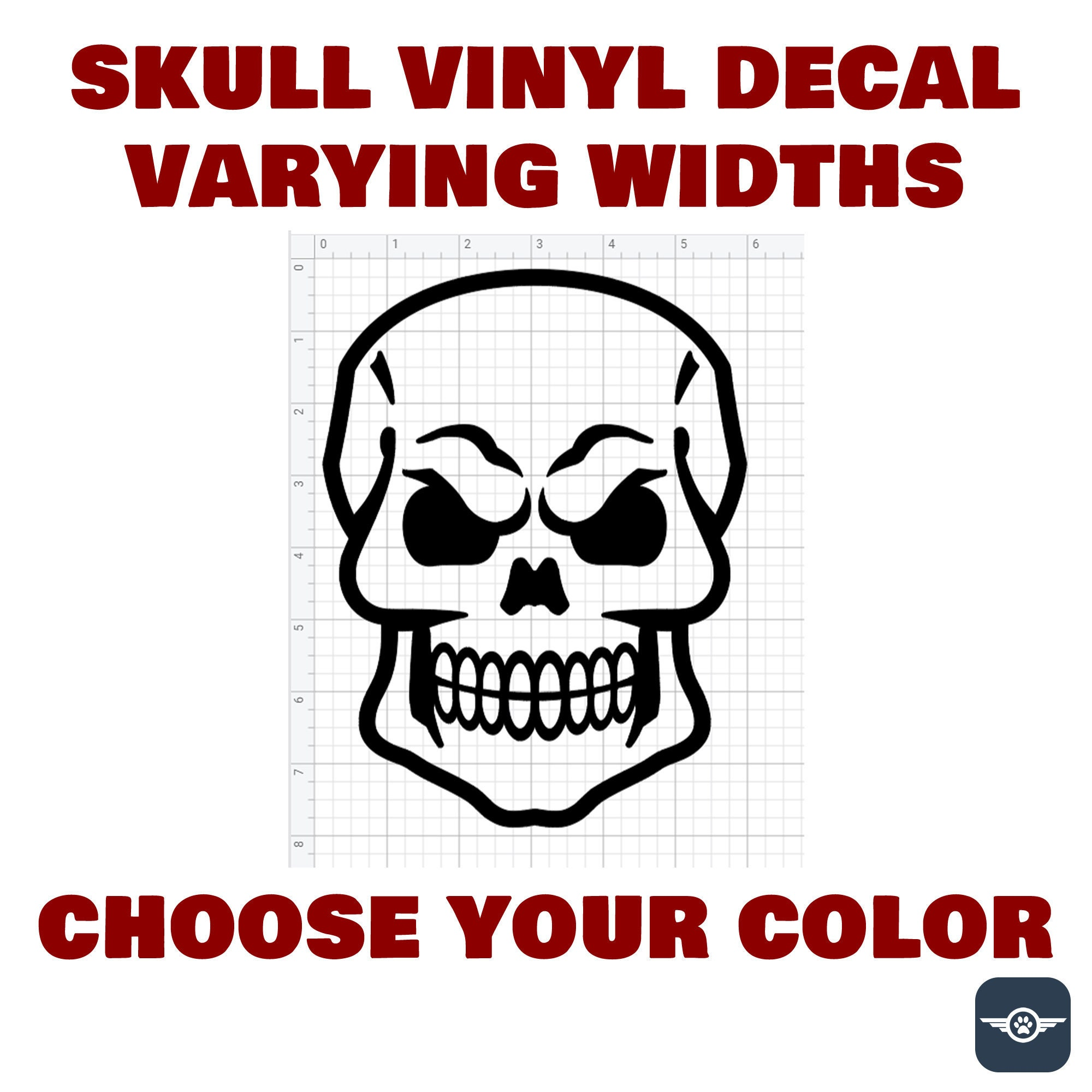 CAD$8.49 - Skull Die Cut Vinyl Decal also in CHROME various colors and sizes available